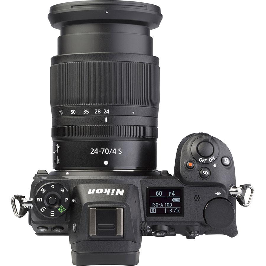 Nikon Z6 + Nikkor Z 24-70 mm S - Vue du dessus