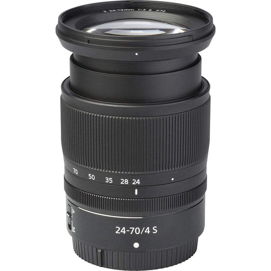 Nikon Z6 + Nikkor Z 24-70 mm S - Vue de l'objectif