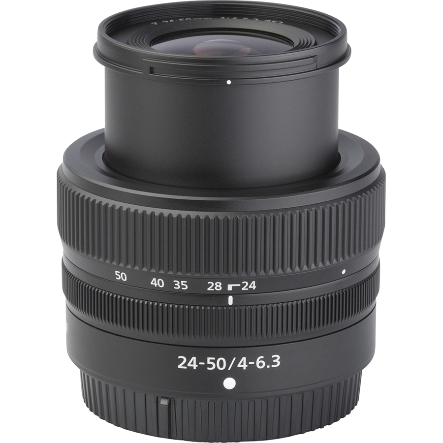 Nikon Z5 + Nikkor Z 24-50 mm - Vue de l'objectif