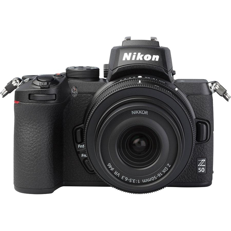 Nikon Z50 + Nikkor Z DX 16-50 mm VR - Vue de face