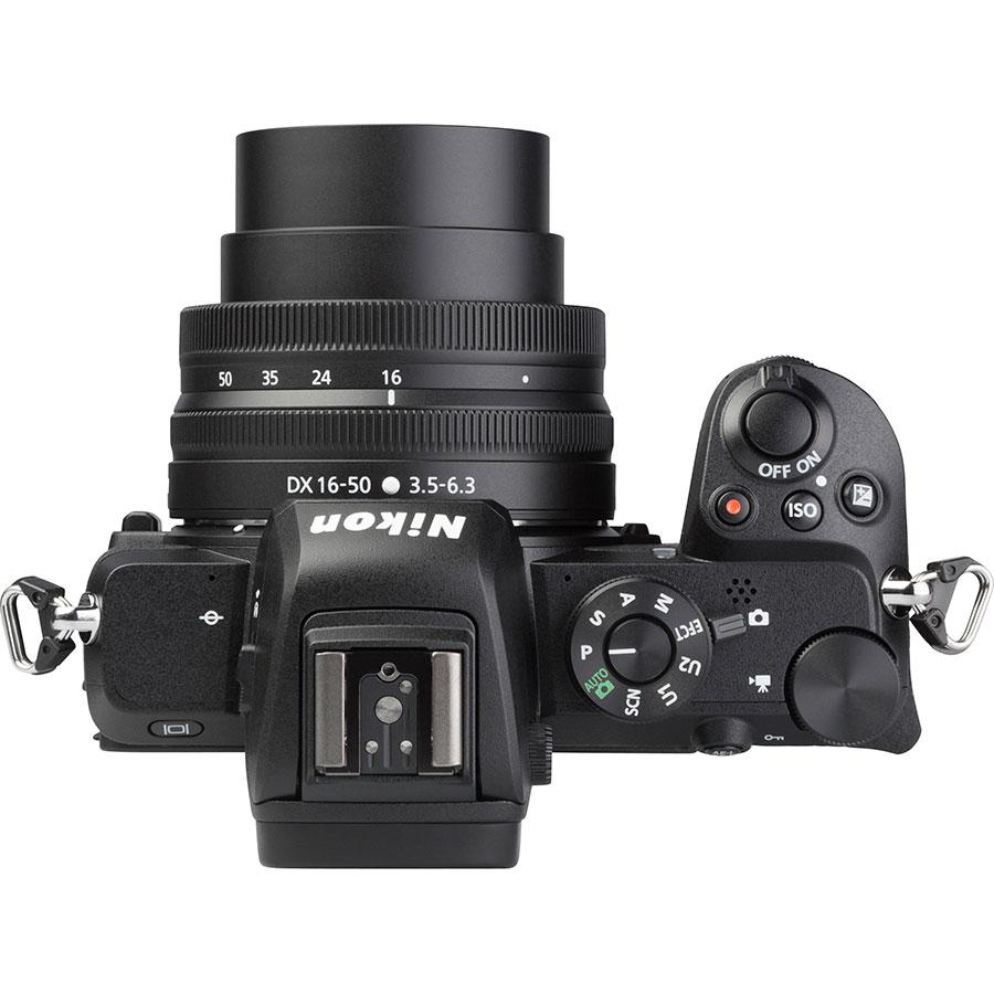 Nikon Z50 + Nikkor Z DX 16-50 mm VR - Vue du dessus