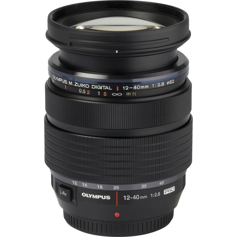 Olympus OM-D E-M1 + M. Zuiko Digital ED 12-40 mm PRO - Vue de l'objectif