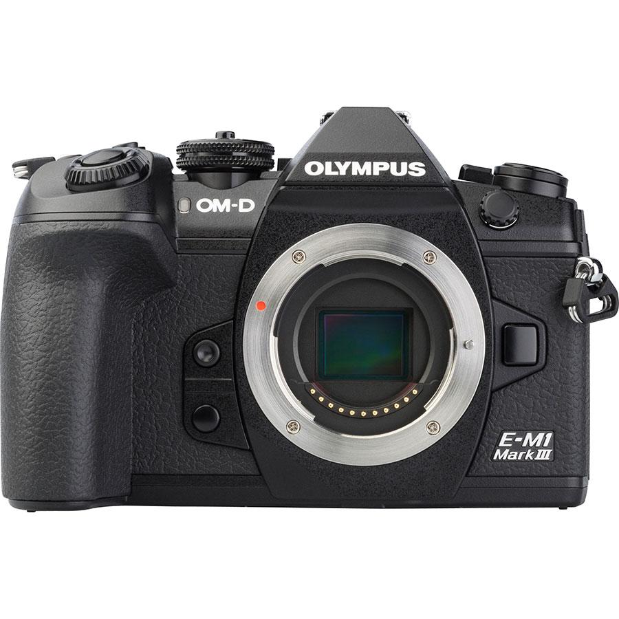 Olympus OM-D E-M1 Mark III + M.Zuiko Digital ED 12-40 mm Pro - Vue de face sans objectif