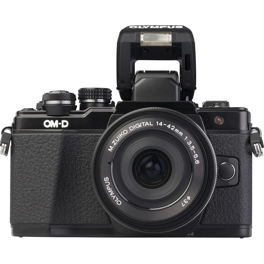 Olympus OM-D E-M10 Mark II + M. Zuiko Digital 14-42 mm EZ ED MSC - Vue du dessus
