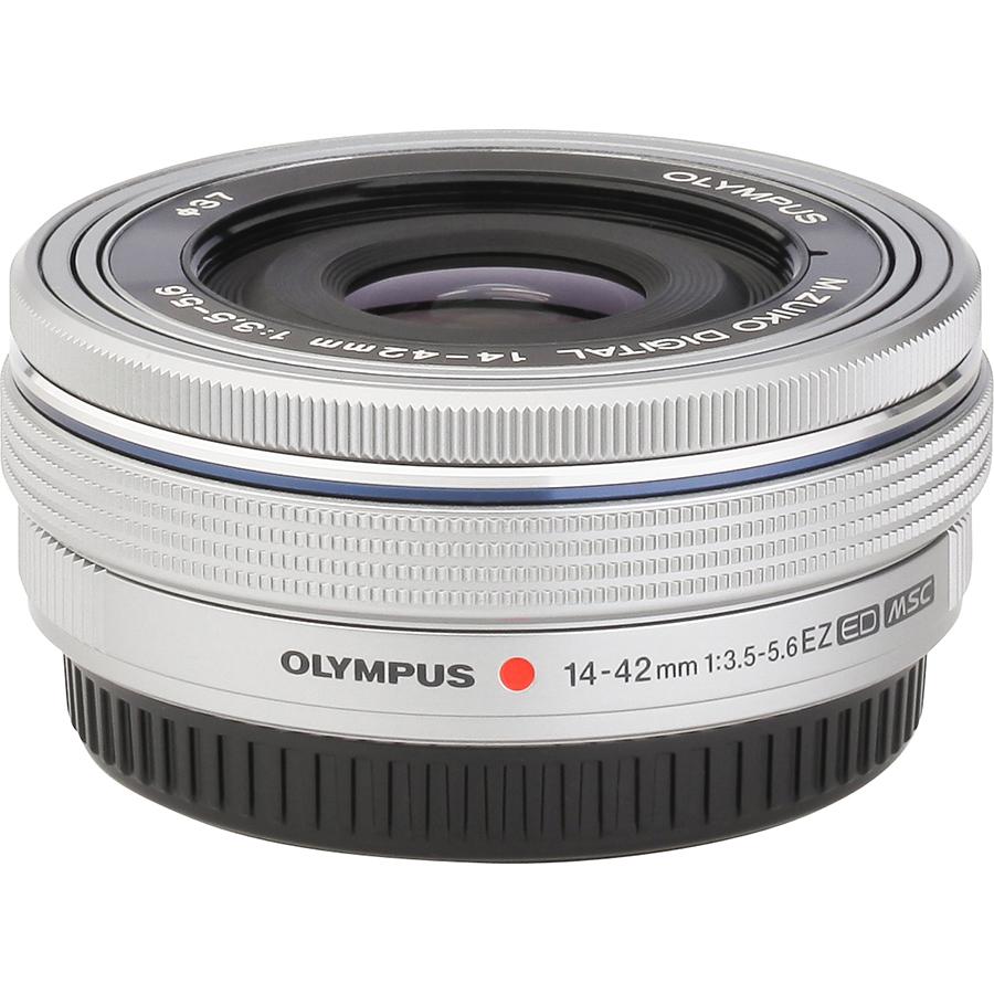 Olympus OM-D E-M10 Mark IV + M. Zuiko Digital 14-42 mm EZ ED MSC - Vue de l'objectif