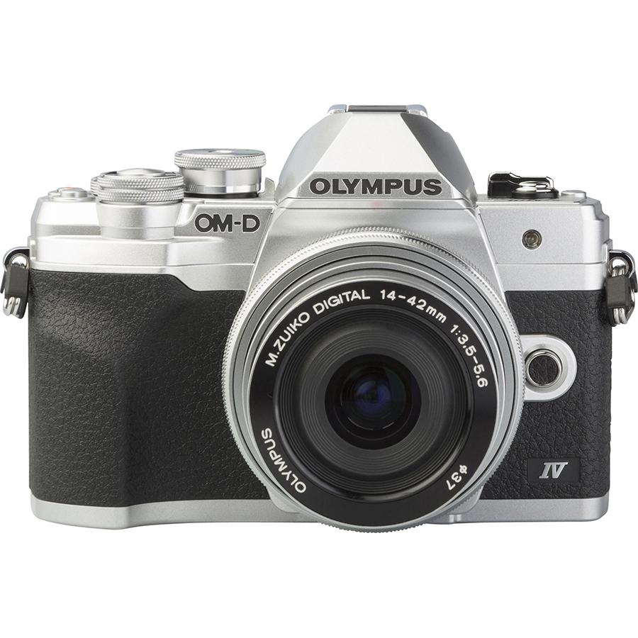 Olympus OM-D E-M10 Mark IV + M. Zuiko Digital 14-42 mm EZ ED MSC - Autre vue de face