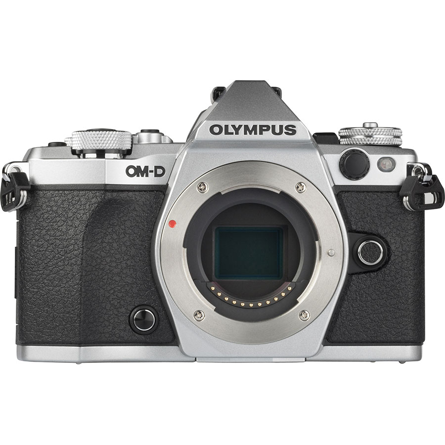 Olympus OM-D E-M5 Mark II + M. Zuiko Digital 14-150 mm II ED MSC - Vue de face sans objectif