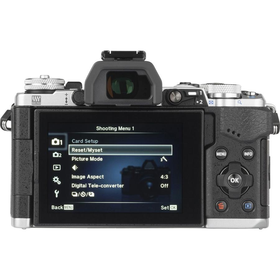 Olympus OM-D E-M5 Mark II + M. Zuiko Digital ED 12-50 mm EZ - Vue de dos