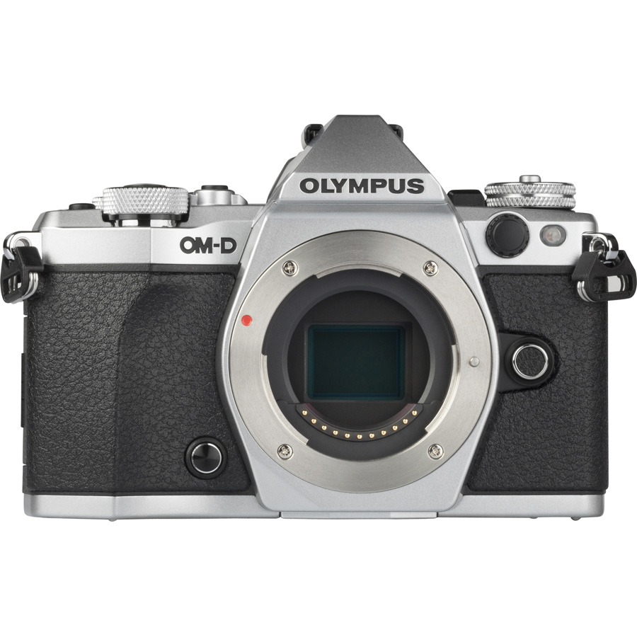 Olympus OM-D E-M5 Mark II + M. Zuiko Digital ED 12-50 mm EZ - Vue de face sans objectif