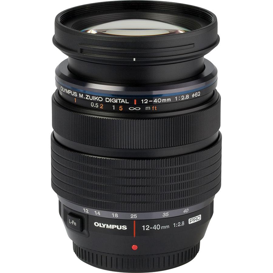 Olympus OM-D E-M5 Mark III + M.Zuiko Digital ED 12-40 mm Pro - Vue de l'objectif