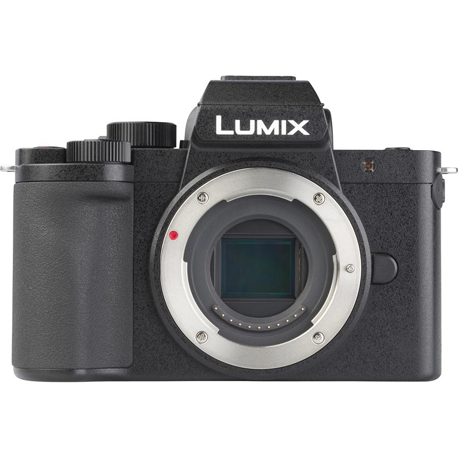 Panasonic Lumix DC-G100 + Lumix G Vario 12-32 mm Mega OIS - Vue de face sans objectif