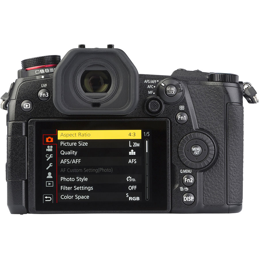Panasonic Lumix DC-G9 + Leica DG Vario-Elmarit 12-60 mm Power OIS - Vue de dos