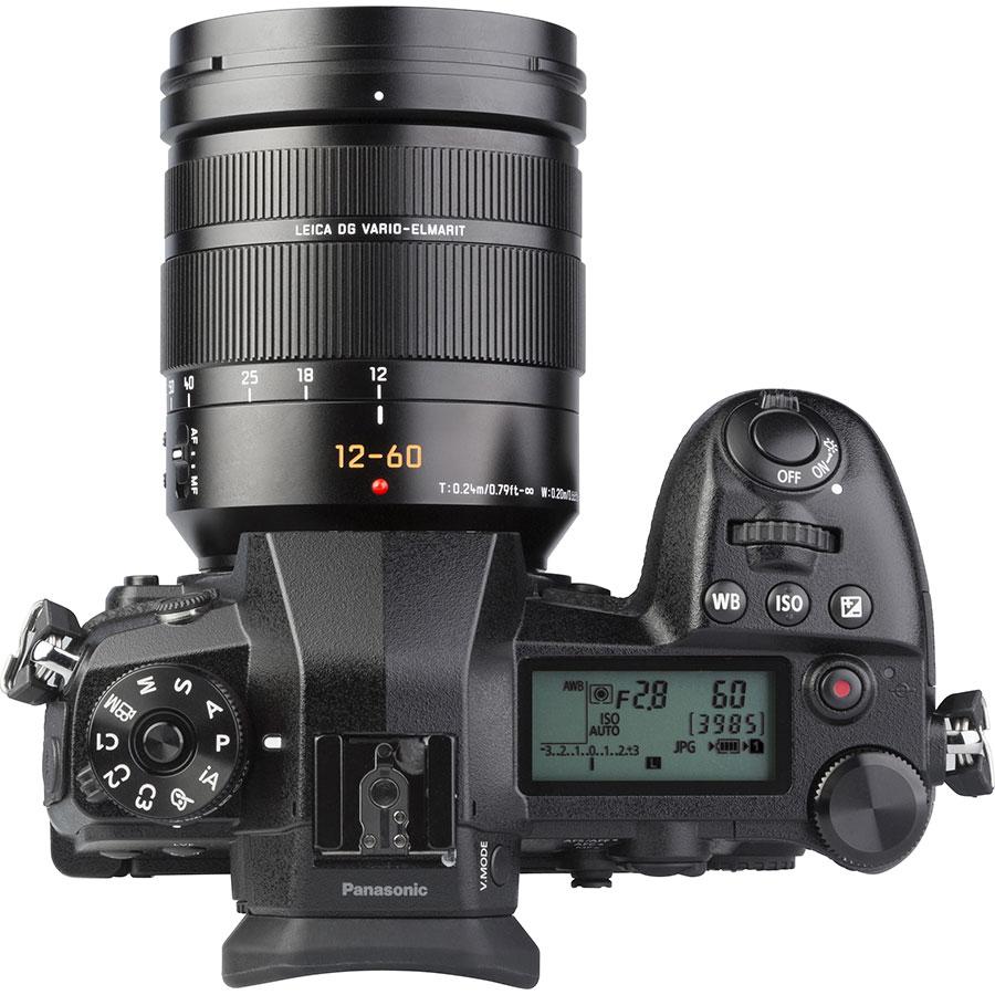Panasonic Lumix DC-G9 + Leica DG Vario-Elmarit 12-60 mm Power OIS - Vue du dessus
