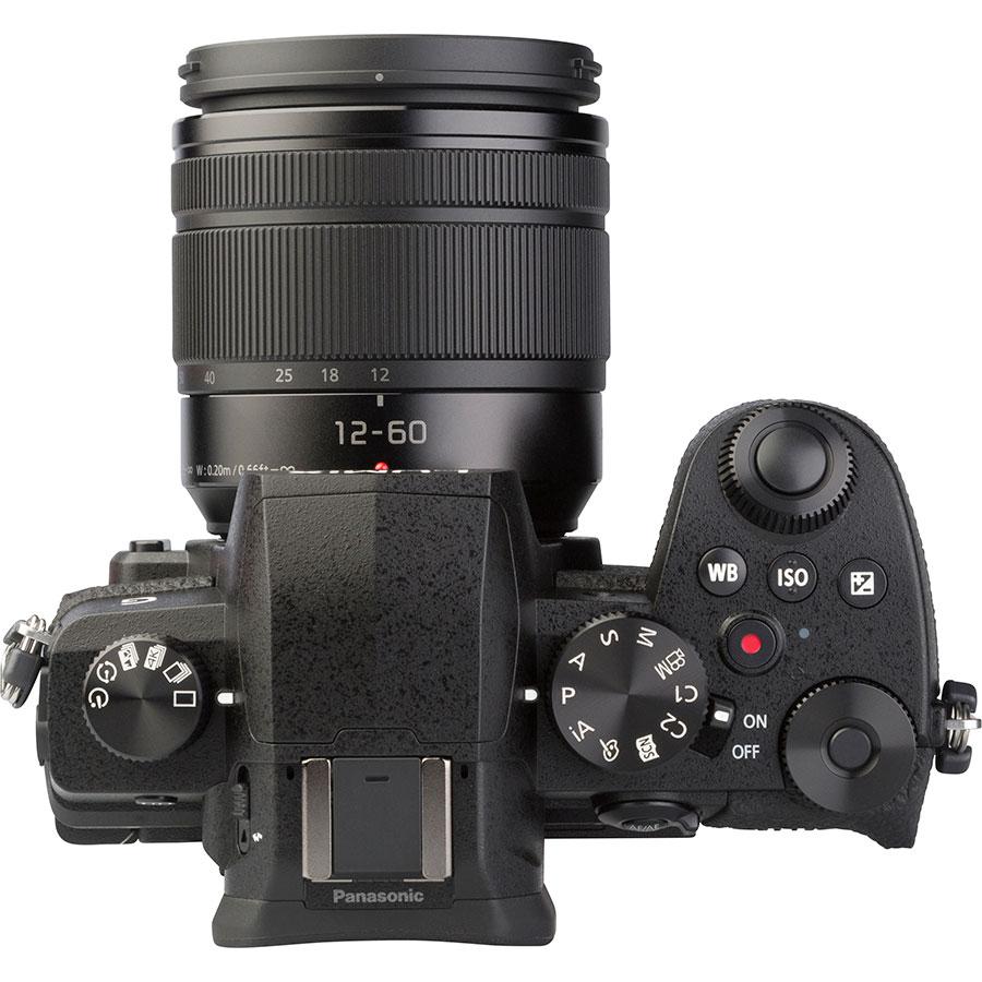 Panasonic Lumix DC-G90 + Lumix G Vario 12-60 mm Power OIS - Vue du dessus