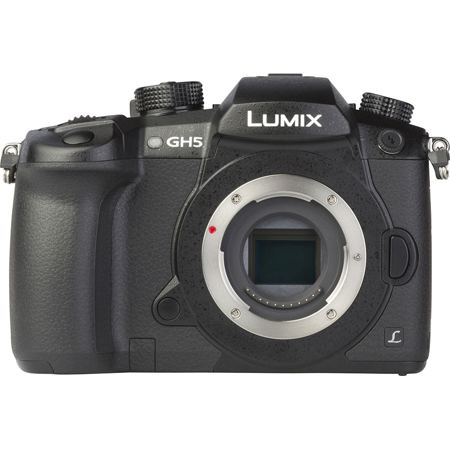 Panasonic Lumix DC-GH5 + Lumix G Vario 12-60 mm Power OIS - Vue de face sans objectif