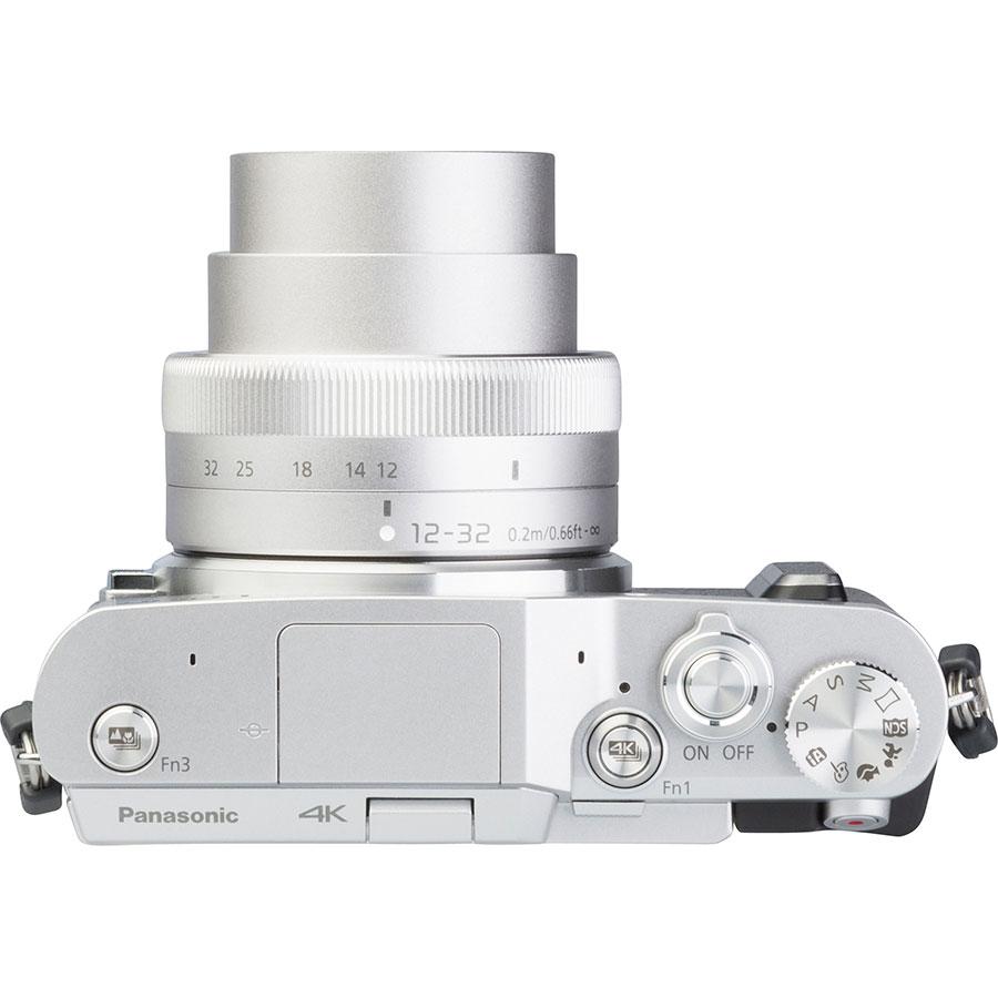 Panasonic Lumix DC-GX880 + Lumix G Vario 12-32 mm Mega OIS - Vue du dessus