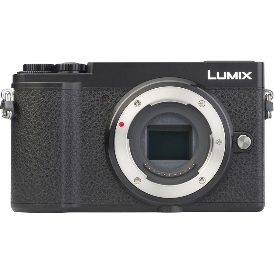 Panasonic Lumix DC-GX9 + Lumix G Vario 12-32 mm Mega OIS - Vue de face sans objectif