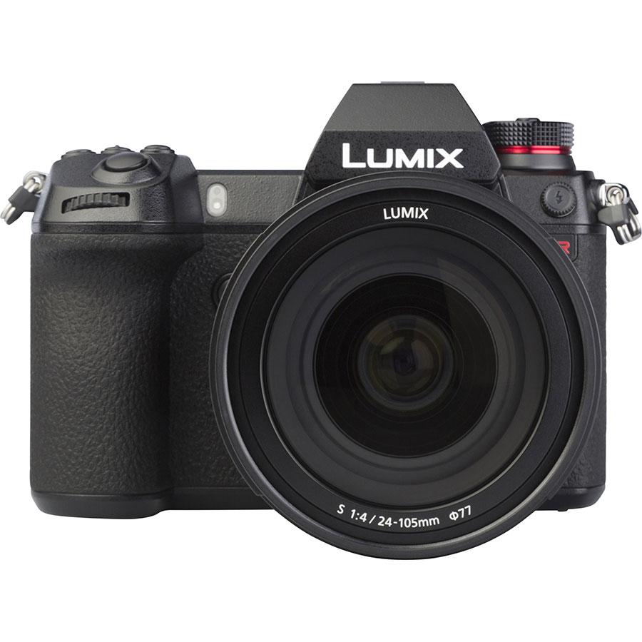 Panasonic Lumix DC-S1R + Lumix S 24-105 mm Macro OIS - Vue de face