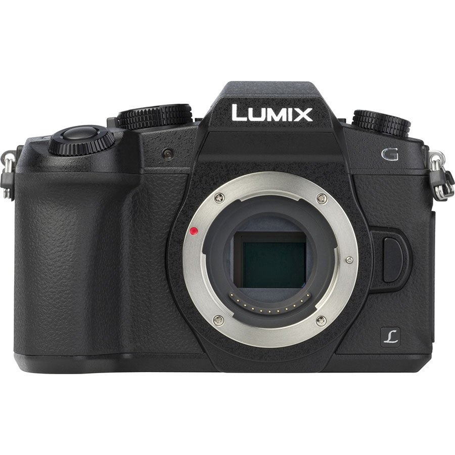 Panasonic Lumix DMC-G80 + Lumix G Vario 12-60 mm Power OIS - Vue de face sans objectif