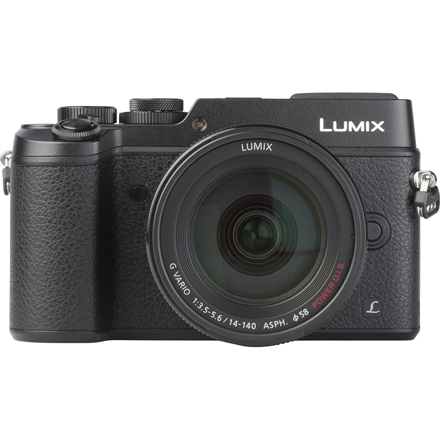 Panasonic Lumix DMC-GX8 + Lumix G Vario 14-140 mm OIS - Vue de face