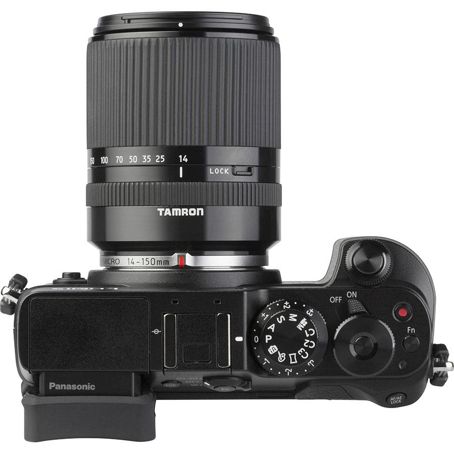 Panasonic Lumix DMC-GX8 + Tamron 14-150 mm Di III - Vue de face
