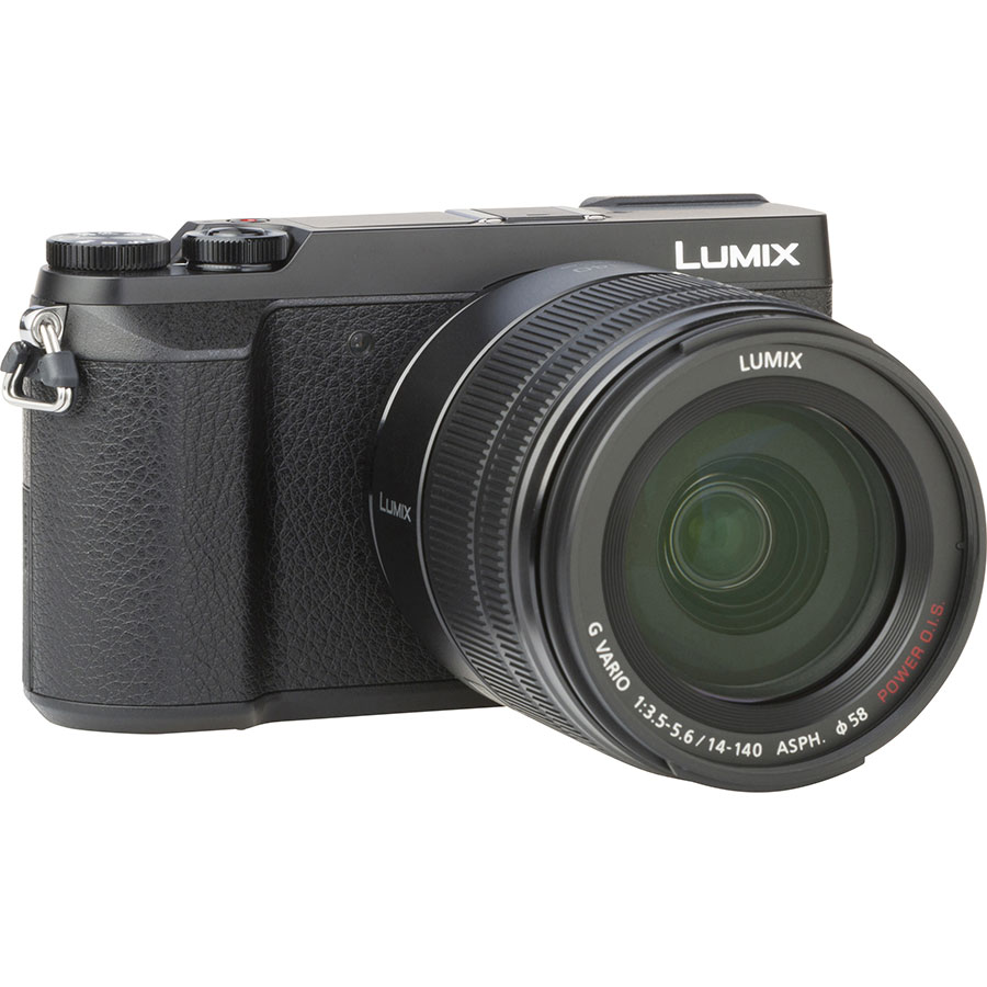 Panasonic Lumix DMC-GX80 + Lumix G Vario 14-140 mm Power OIS - Vue de l'objectif