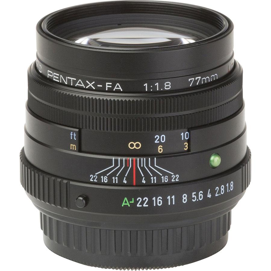 Pentax K-1 + SMC FA 77 mm Limited - Vue de l'objectif