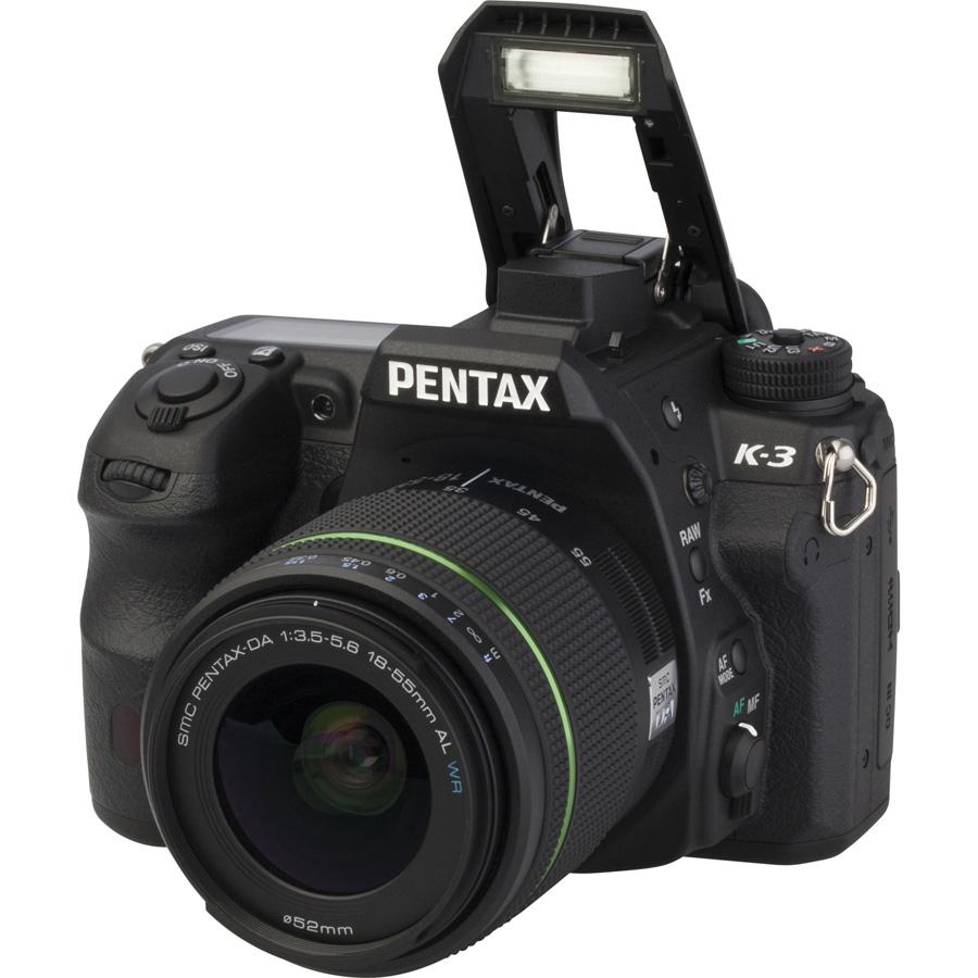 Pentax K-3 + SMC-DA 18-55 mm AL WR - Vue principale