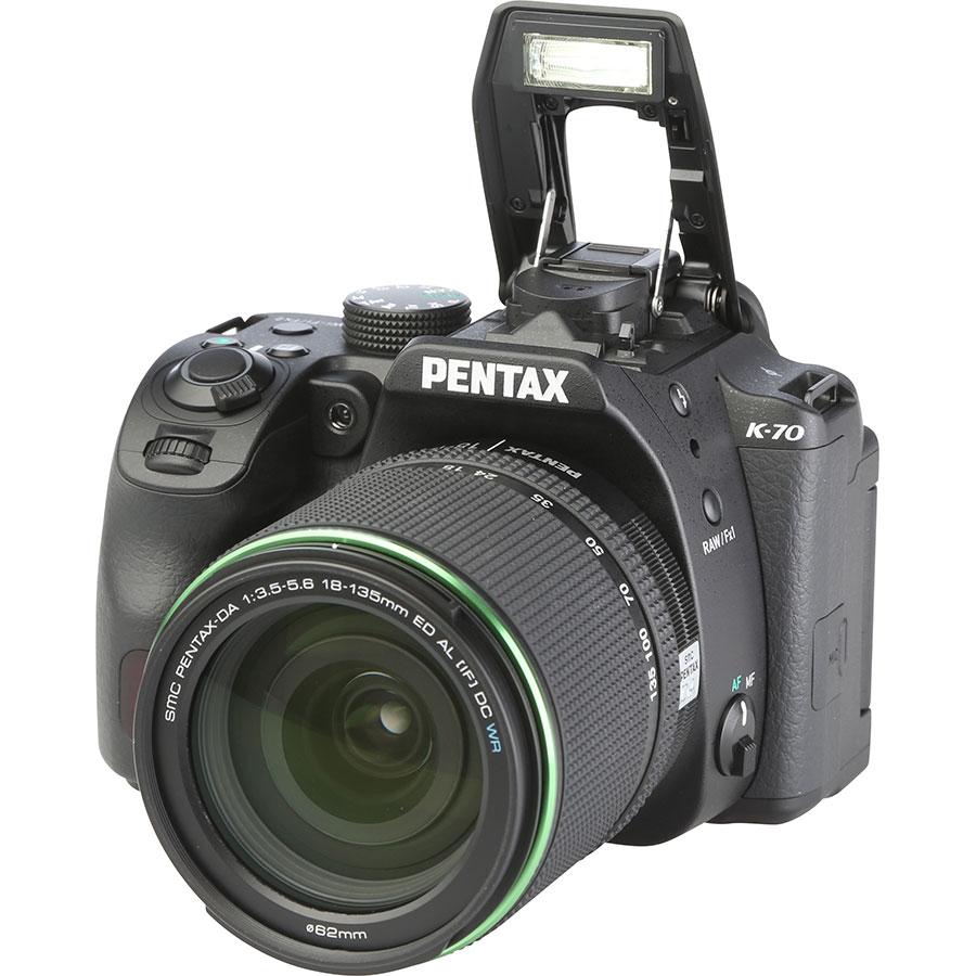 Pentax K-70 + SMC DA 18-135 mm ED AL IF DC WR - Vue principale