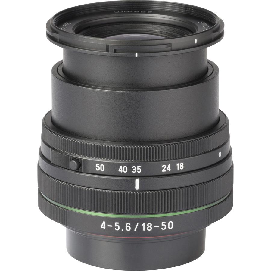Pentax K-S2 + DA L 18-50 mm DC WR RE - Vue de l'objectif