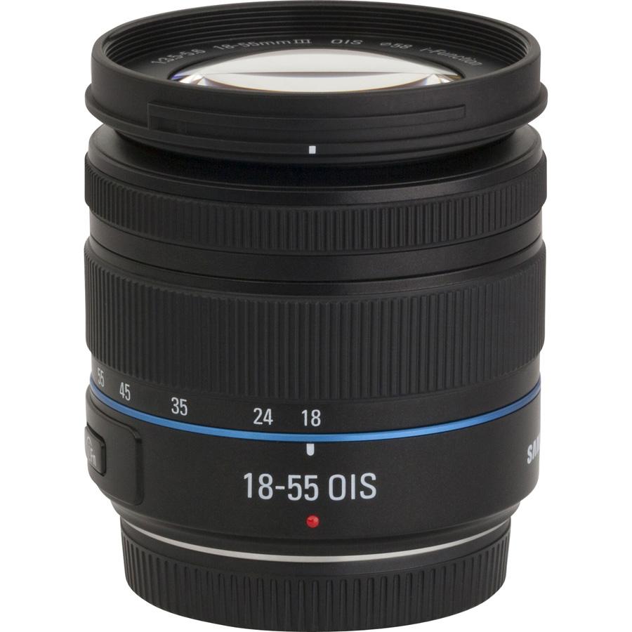 Samsung NX30 + 18-55 mm III OIS - Vue de l'objectif