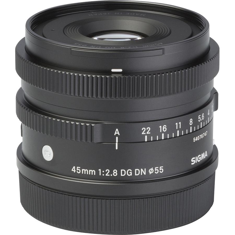 Sigma FP + DG DN 45 mm - Vue de l'objectif
