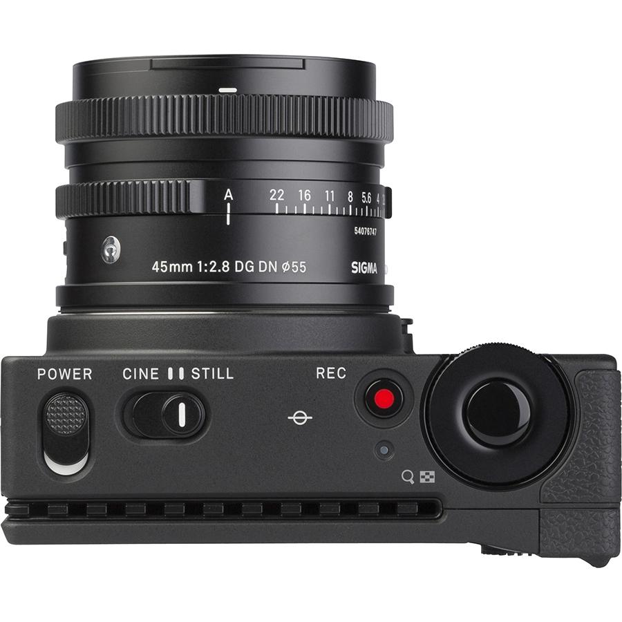 Sigma FP + DG DN 45 mm - Vue de dessus
