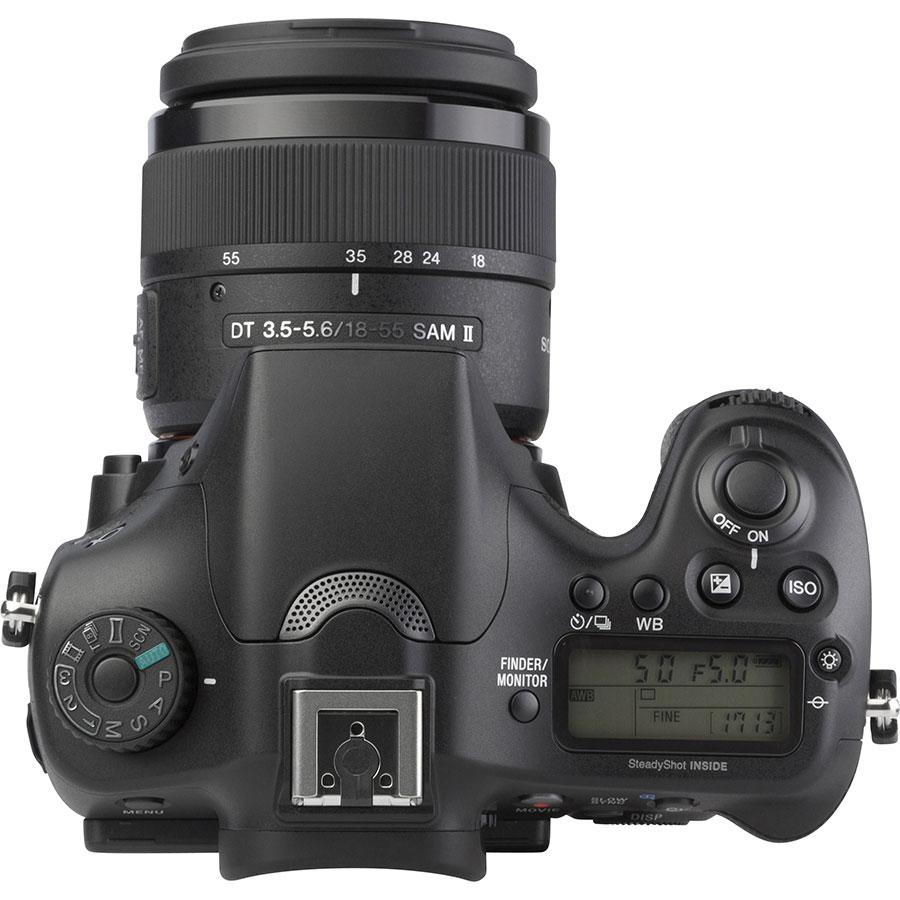 Sony ILCA-68 + DT 18-55 mm SAM II SAL18552 - Vue de face sans objectif