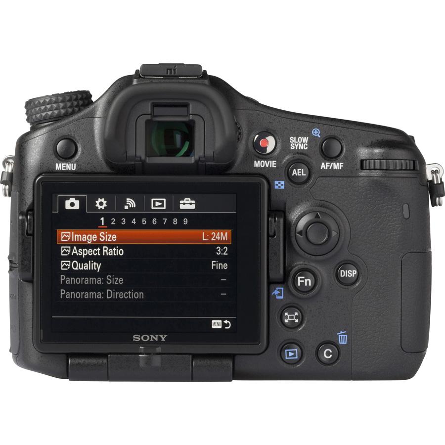 Sony ILCA-77M2 + 16-50 mm SSM SAL1650 - Vue du dessus