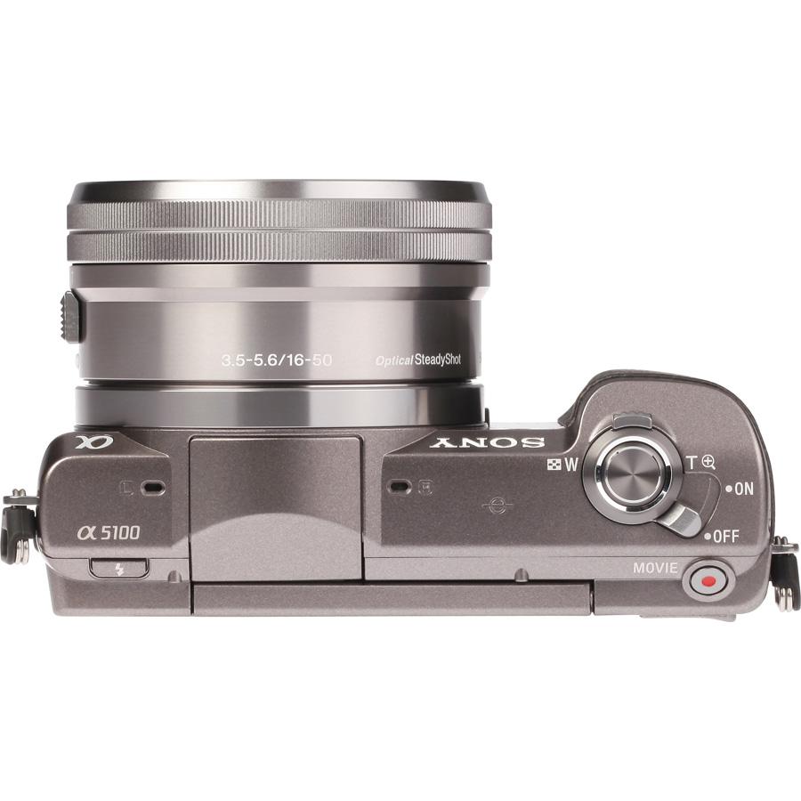 Sony ILCE-5100 + 16-50 mm SELP1650 - Vue du dessus