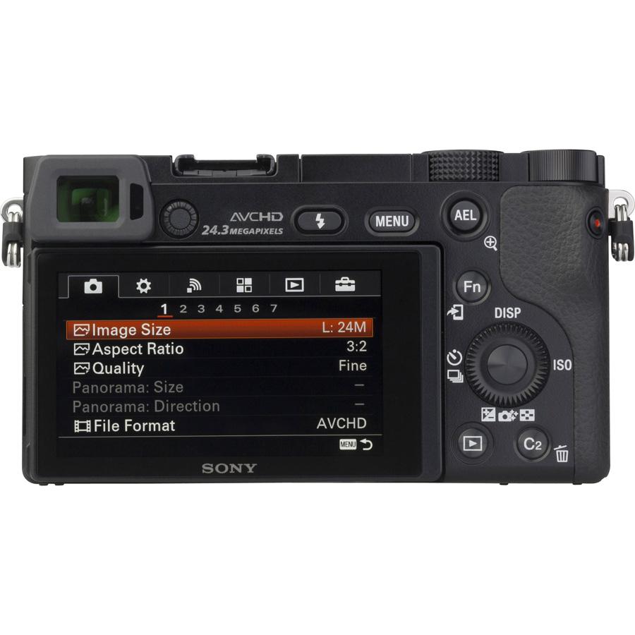 Sony ILCE-6000 + 16-50 mm SELP1650 - Vue de l'objectif