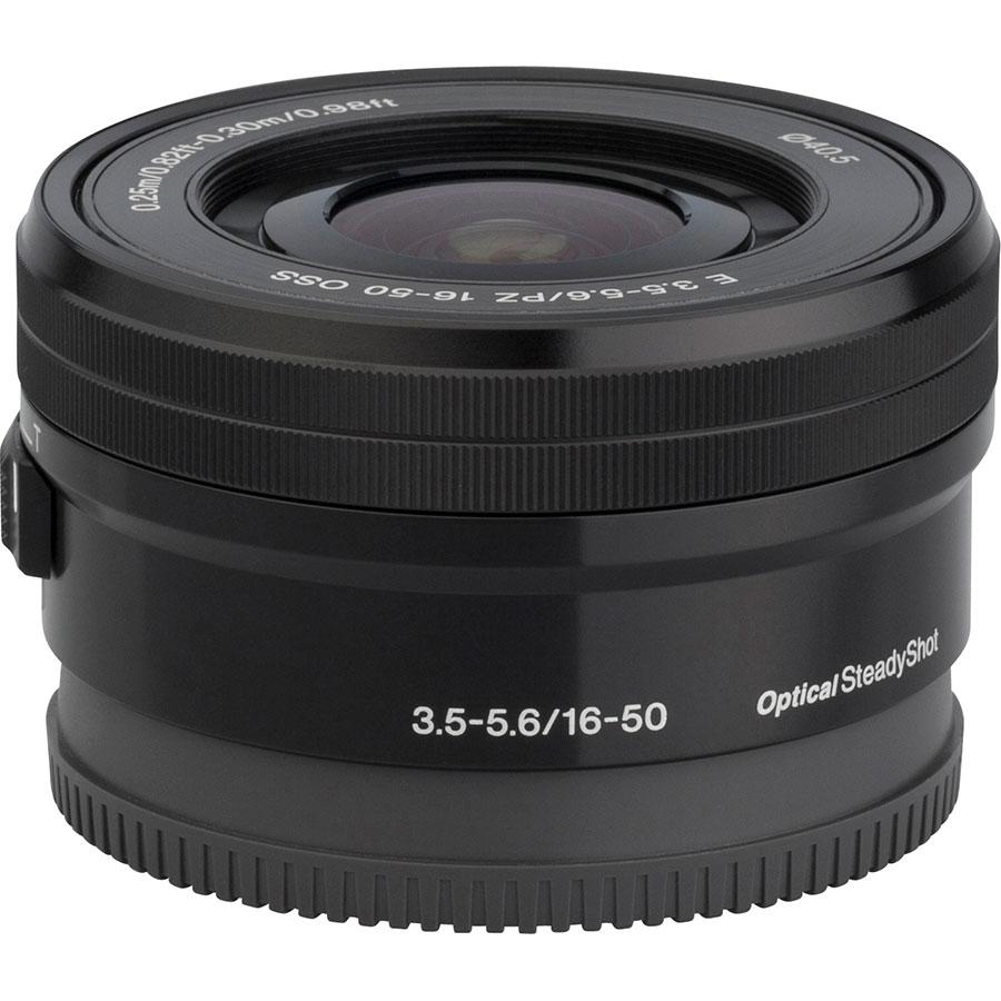 Sony ILCE-6100 + E 16-50 mm PZ OSS SELP1650 - Vue de l'objectif