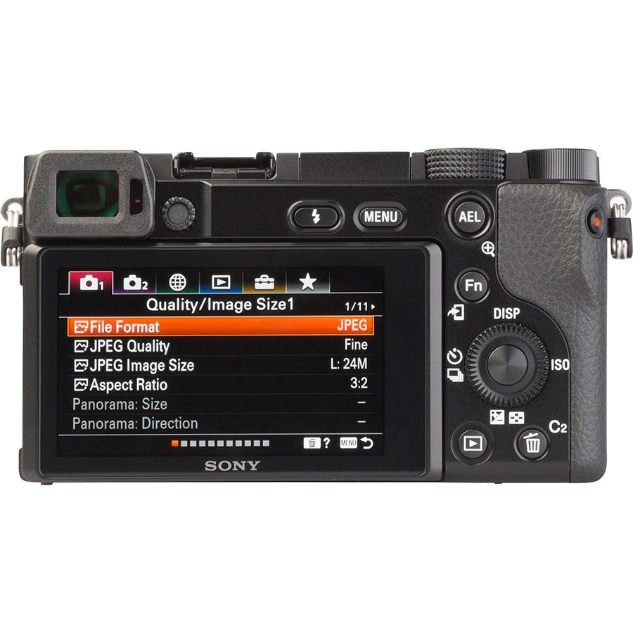 Sony ILCE-6100 + E 16-50 mm PZ OSS SELP1650 - Vue de dos