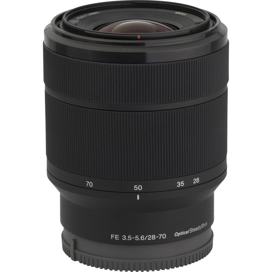 Sony ILCE-7 + 28-70 mm OSS SEL2870 - Vue de l'objectif