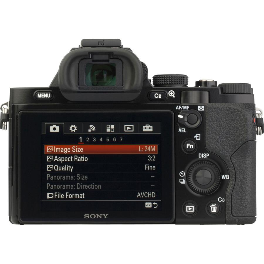 Sony ILCE-7 + 28-70 mm OSS SEL2870 - Vue de dos