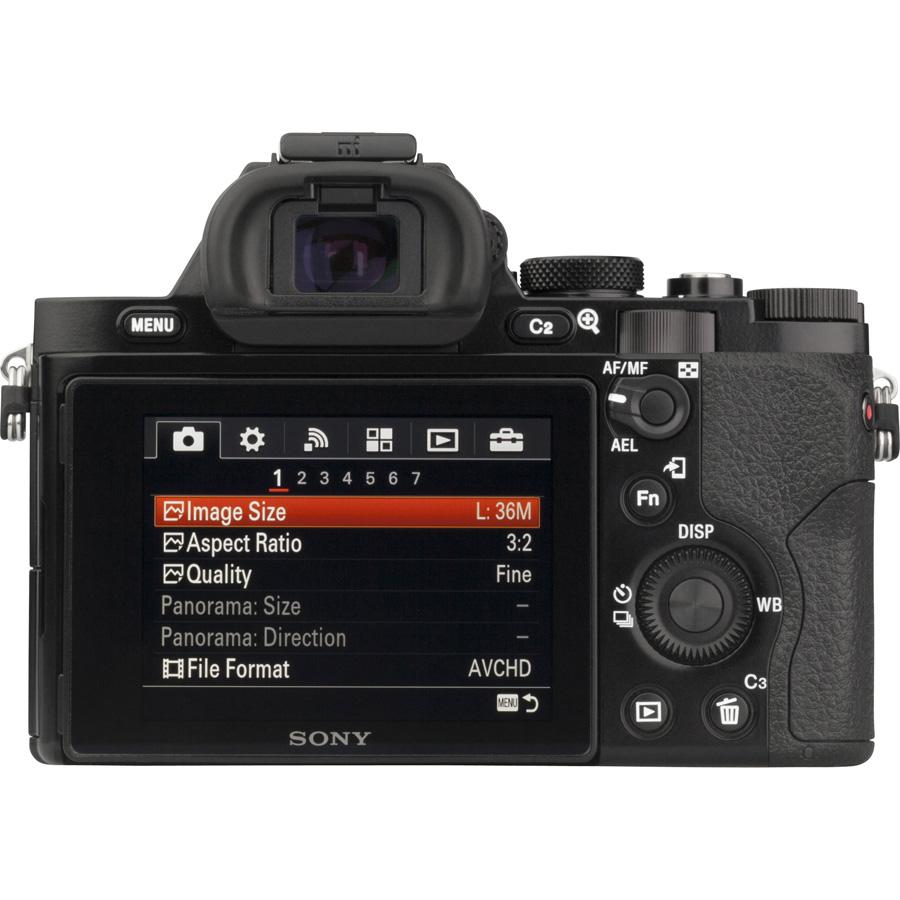 Sony ILCE-7R + 24-70 mm SEL2470Z - Vue du dessus