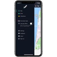 Here WeGo - City navigation & Offline maps - Menu principal