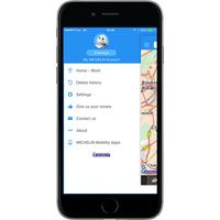 ViaMichelin GPS, Traffic, Speedcam, Route Planner - Menu principal