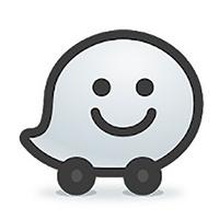 Waze GPS, cartes, trafic & Navigation temps réel - Logo de l'appli