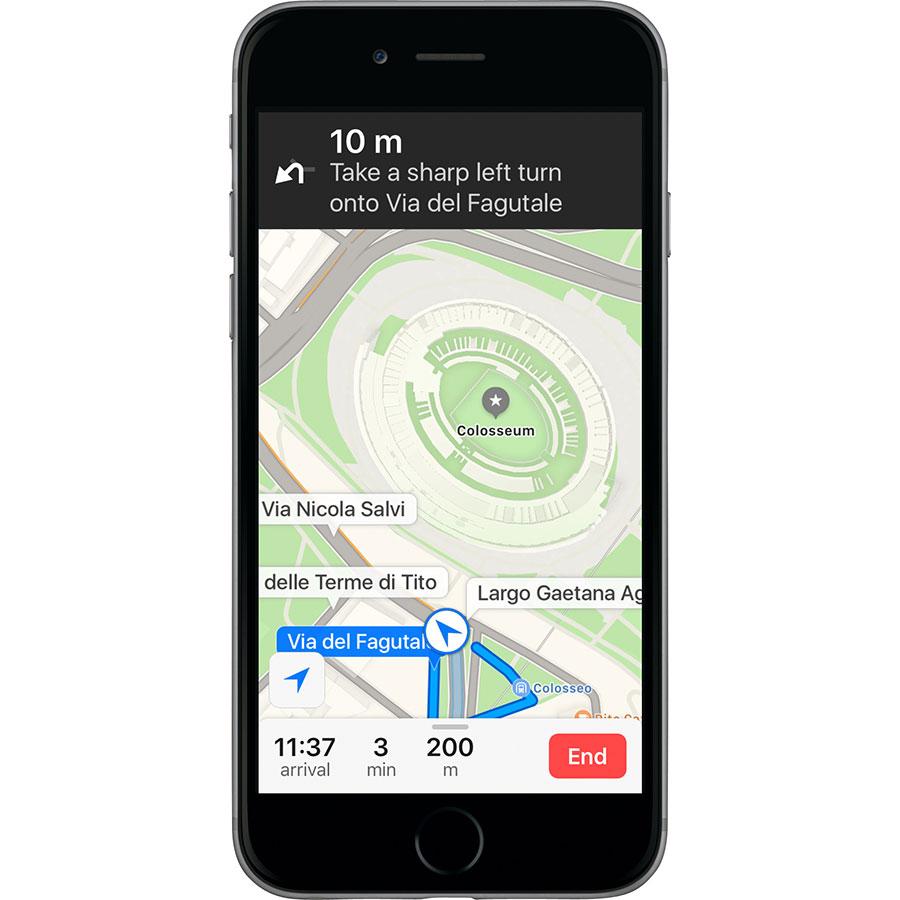 Apple Plans - Exemple de navigation
