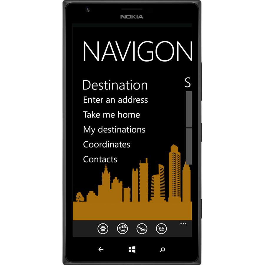 Garmin Navigon Europe - Menu de l'application