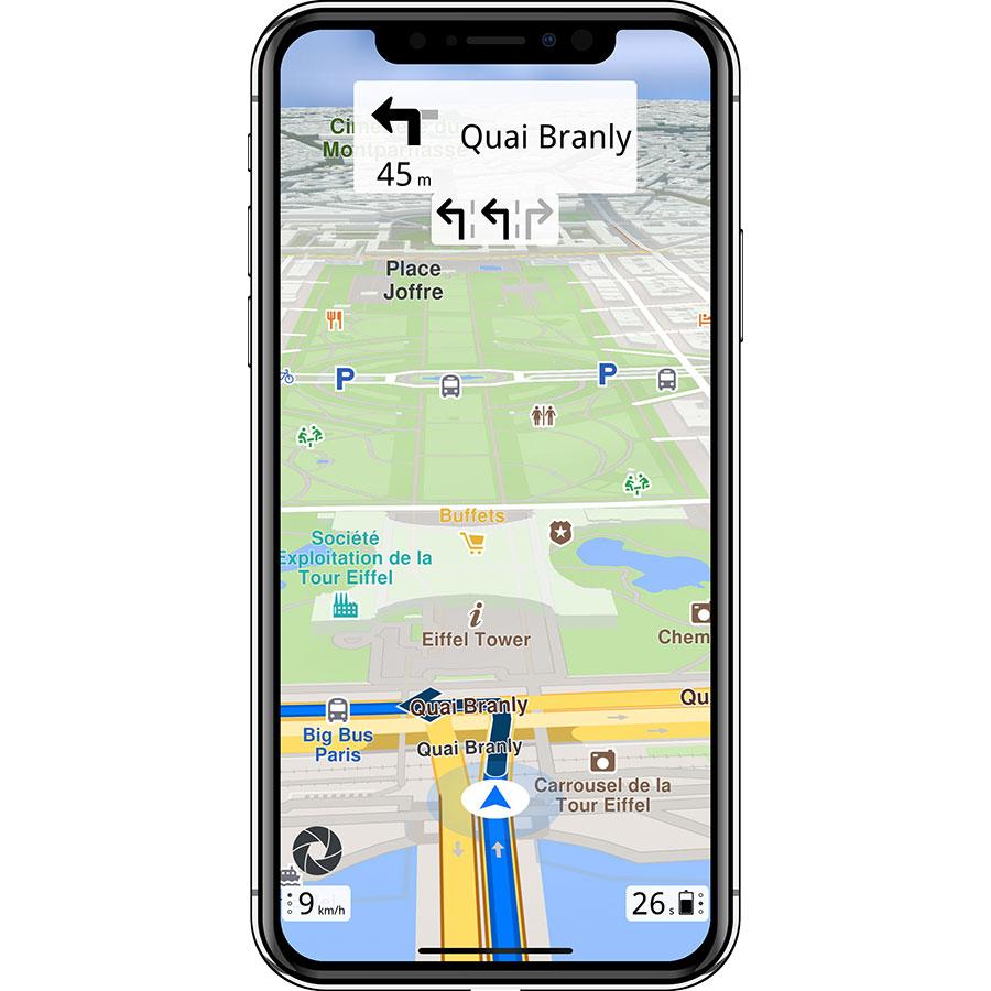 General Magic Magic Earth Navigation & Maps - Exemple de navigation