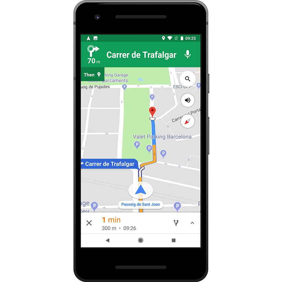 Google Maps - Navigation & Transit - Exemple de navigation