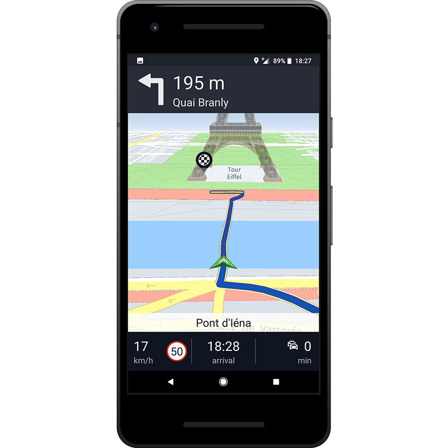 Here WeGo - Offline Maps & GPS - Exemple de navigation